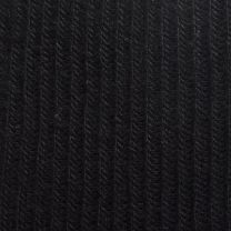 Size 10 - 13 1950s Deadstock Ribbed Knit Black Stretch Socks Trouser Calf Height - Fashionconstellate.com