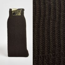 Size 10 - 13 1950s Deadstock Brown Stretch Socks Ribbed