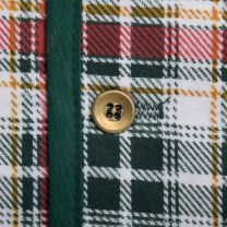 Mens 1970s Vest Orange Green and White Plaid Lightweight Flannel Quilted Lining - Fashionconstellate.com