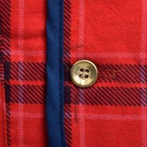 Mens 1970s Rest Red and Blue Plaid Flannel Quilted Lining Lightweight Outerwear - Fashionconstellate.com