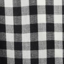 Medium 1980s Top Comme des Garcons Black and White Gingham Plaid Long Sleeve Button Up Shirt - Fashionconstellate.com