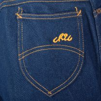 Large 1970s Deadstock Ms Chic by His Jeans 70s High Waist Dark Wash - Fashionconstellate.com