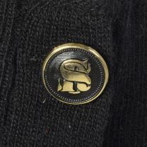 Large 1980s Black Sweater Sonia Rykiel Designer Lightweight Decorative Buttons 80s - Fashionconstellate.com