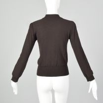 XS Sonia Rykiel 1990s Sweater Brown Long Sleeve Mockneck Turtleneck Pullover Jumper Top - Fashionconstellate.com