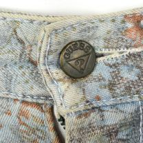 XS 1980s Guess Tapestry Print Jeans High Waisted Denim High Rise Jeans - Fashionconstellate.com