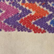 1930s Bohemian Huipil Poncho Hand Loomed Cotton Multi Color Mayan Pattern  - Fashionconstellate.com