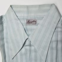 Large 1940s Deadstock Green Casual Shirt Short Sleeve Leisurewear Sanforized Cotton Spearpoint Loop  - Fashionconstellate.com