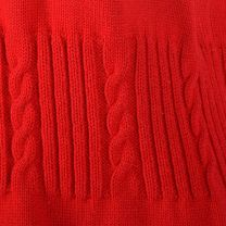 Small 1960s Vest Red Knit with Gold Buttons and White Trim Gathered Cable Knit Waist - Fashionconstellate.com