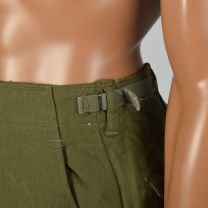 Small 1950s Men's Green Wool Military Field Trousers Flap Pockets Adjustable Waist - Fashionconstellate.com
