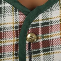 Small 1960s Mens Vest Red White and Green Flannel Plaid Quilted Lining Lightweight Outerwear  - Fashionconstellate.com