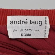 Small 1970s Skirt André Laug for Audrey Hepburn Red Lace Pleated Scallop Hem Designer Midi Skirt - Fashionconstellate.com