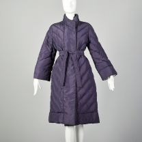 Medium 1980s Bill Blass Purple Puffer Coat Winter Outerwear