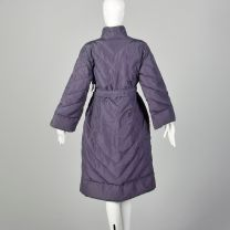 Medium 1980s Bill Blass Purple Puffer Coat Winter Outerwear - Fashionconstellate.com