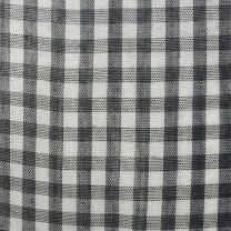 Small 1970s Top Black and White Gingham Plaid Blouse Long Sleeve Button Up Shirt Pointed Collar - Fashionconstellate.com