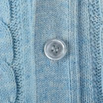 Large Light Blue Mens Cardigan 1960s Cable Knit V-Neck Sweater - Fashionconstellate.com