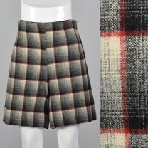 Small 1950s Plaid Shorts High Waisted Shorts Pin Up Rockabilly Separates Spring Summer Sportswear