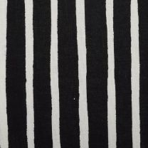 XS Marimekko Black and White Striped Shirt Long Sleeves Button Cuffs Flattering Fit Button Up Top - Fashionconstellate.com