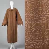 Antique Masonic Robe Brown Ceremonial Robe Pink Embroidery Unisex Theater Costume Secret Society