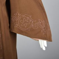 Antique Masonic Robe Brown Ceremonial Robe Pink Embroidery Unisex Theater Costume Secret Society  - Fashionconstellate.com