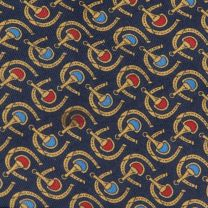 1990s Brooks Brothers Necktie Silk Horse Shoes Bits Classic Style - Fashionconstellate.com