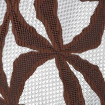 1970s Wide Necktie Psychedelic Op Art Brown White Woven Polyester  - Fashionconstellate.com