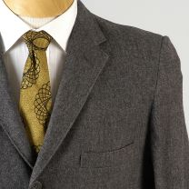 40R Medium 1950s Mens Blazer Three Button Gray Wool Jacket Sportcoat Slim Narrow Stripe Lining - Fashionconstellate.com