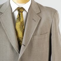 42 Large Mens 1970s Tan Blazer Cream 3 Roll 2 42 42R Jacket Blazer Sportscoat - Fashionconstellate.com
