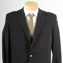 42L Large Mens 1950s Blazer Textured Black Slim Lapel Rockabilly Jacket Sportcoat - Fashionconstellate.com