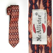 1970s Necktie Psychedelic Woven Tapestry Woven in Italy