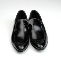 Size 10.5 1960s Deadstock Thomas Black Leather Formal Pumps Slip On Shoes Classic Dressy - Fashionconstellate.com