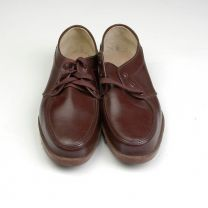 Size 8.5 1960s Deadstock Diamond Work Wear Brown Thick Heavy Rubber Tread Shoes Made in Japan - Fashionconstellate.com