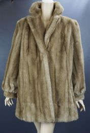 Emilio Pucci Blond Faux Fur Jacket, Made In Italy, Size 14 Vegan Coat
