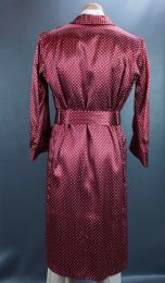Vintage Mans Ruby Red Robe, Dressing Gown, Robes by Stafford, Size XL - Fashionconstellate.com
