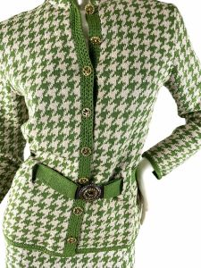 1970s St. John Knits houndstooth suit  - Fashionconstellate.com