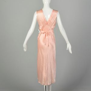 Small 1930s Pink Nightgown Old Hollywood Glamour Vintage Lingerie - Fashionconstellate.com