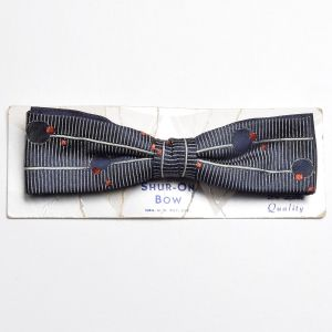 1960s Clip On Bow Tie Mod Atomic Space Age