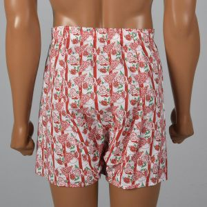 Large 1960s Mens Santa Novelty Print Boxer Shorts Balloon Seat Christmas Holiday Underwear - Fashionconstellate.com