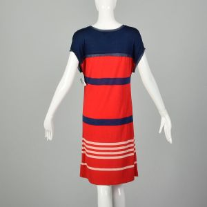 Small Jason Wu for Target Red Striped Dress Lightweight Casual Blue Jersey Shift - Fashionconstellate.com