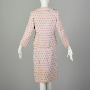 Small 1960s Two Piece Ensemble Pink White Theater Costume Outfit AS IS - Fashionconstellate.com