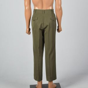 Medium 1950s Mens Pants Olive Crease Front 50s Rockabilly Trousers - Fashionconstellate.com