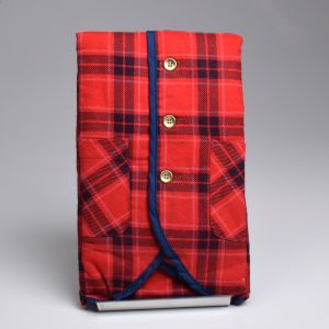 Small 1970s Mens Rest Red and Blue Plaid Flannel Quilted Lining Lightweight Outerwear - Fashionconstellate.com