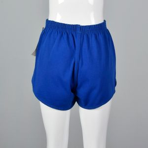 Small 1980s Deadstock Pony Athletic Shorts Blue Knit - Fashionconstellate.com