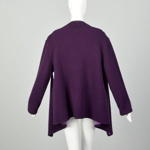 Eileen Fisher Purple Knit Cardigan Aubergine Clutch Jacket Designer - Fashionconstellate.com