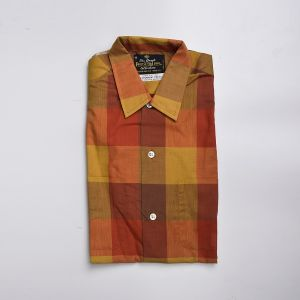 Small 1950s Fall Plaid Shirt Cotton Long Sleeve Fruit of the Loom Deadstock - Fashionconstellate.com