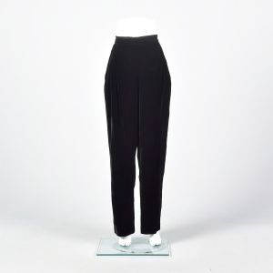 Medium 1990s Black Velvet Trousers Vintage Velvet Rayon Pants  - Fashionconstellate.com
