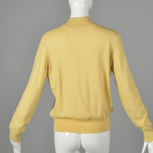 Large 1980s Kasha de Rodier Lightweight Sweater Cream Mockneck Turtleneck Long Sleeve - Fashionconstellate.com