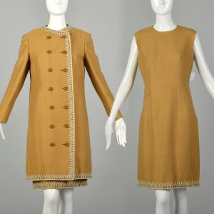 Medium 1960s Dress Coat Autumn Set Theater Costume Great For Layering AS IS