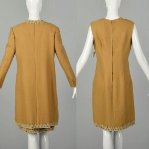 Medium 1960s Dress Coat Autumn Set Theater Costume Great For Layering AS IS - Fashionconstellate.com
