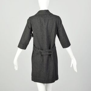 Medium 1960s Dress Gray Wool Double Breasted Casual - Fashionconstellate.com