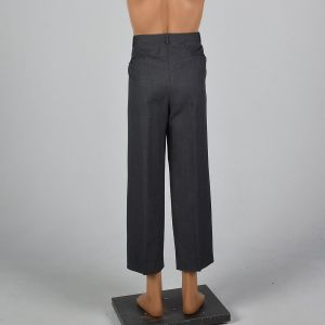 Large 1960s Mens Grey Dress Pants Pleated Front Straight Leg Slacks - Fashionconstellate.com